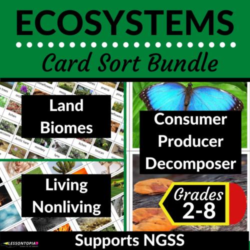Ecosystems Activities | Card Sort Bundle