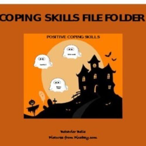 Halloween File Folder- Social Emotional Learning (Positive VS Negative Coping)