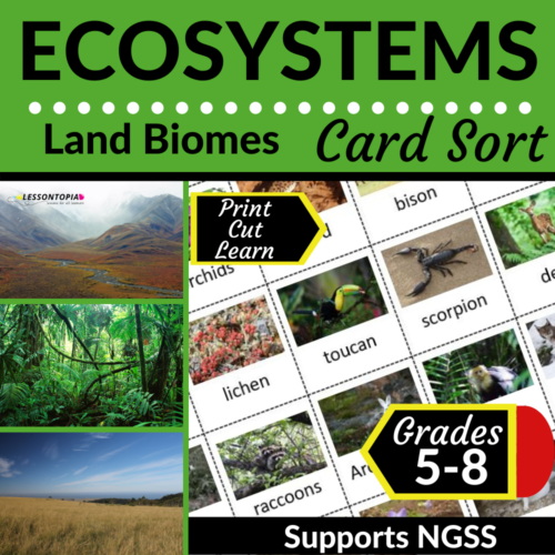 Land Biomes | Card Sort | Ecosystems