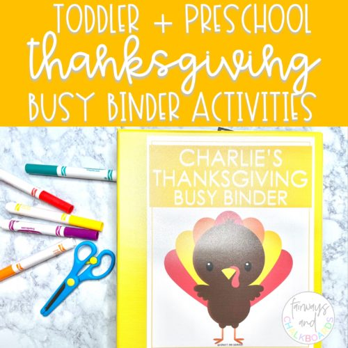 Thanksgiving Busy Binder | Toddler and Preschool Learning Activities