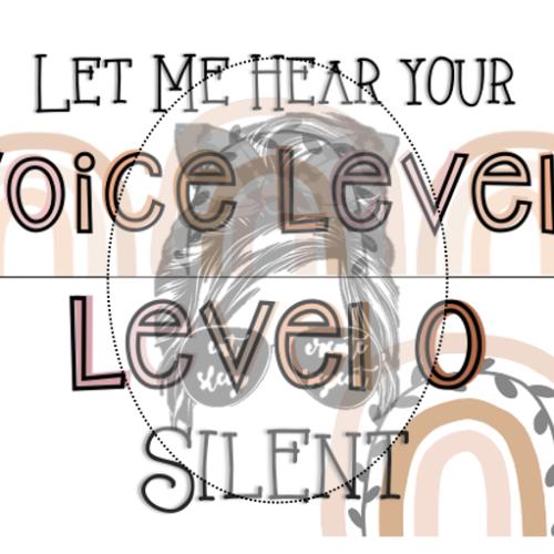 Voice Level Chart [Neutral}